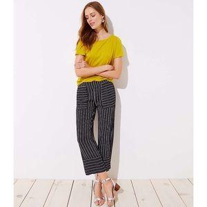 LOFT Petite Mixed Stripe Wide Leg Pants XS